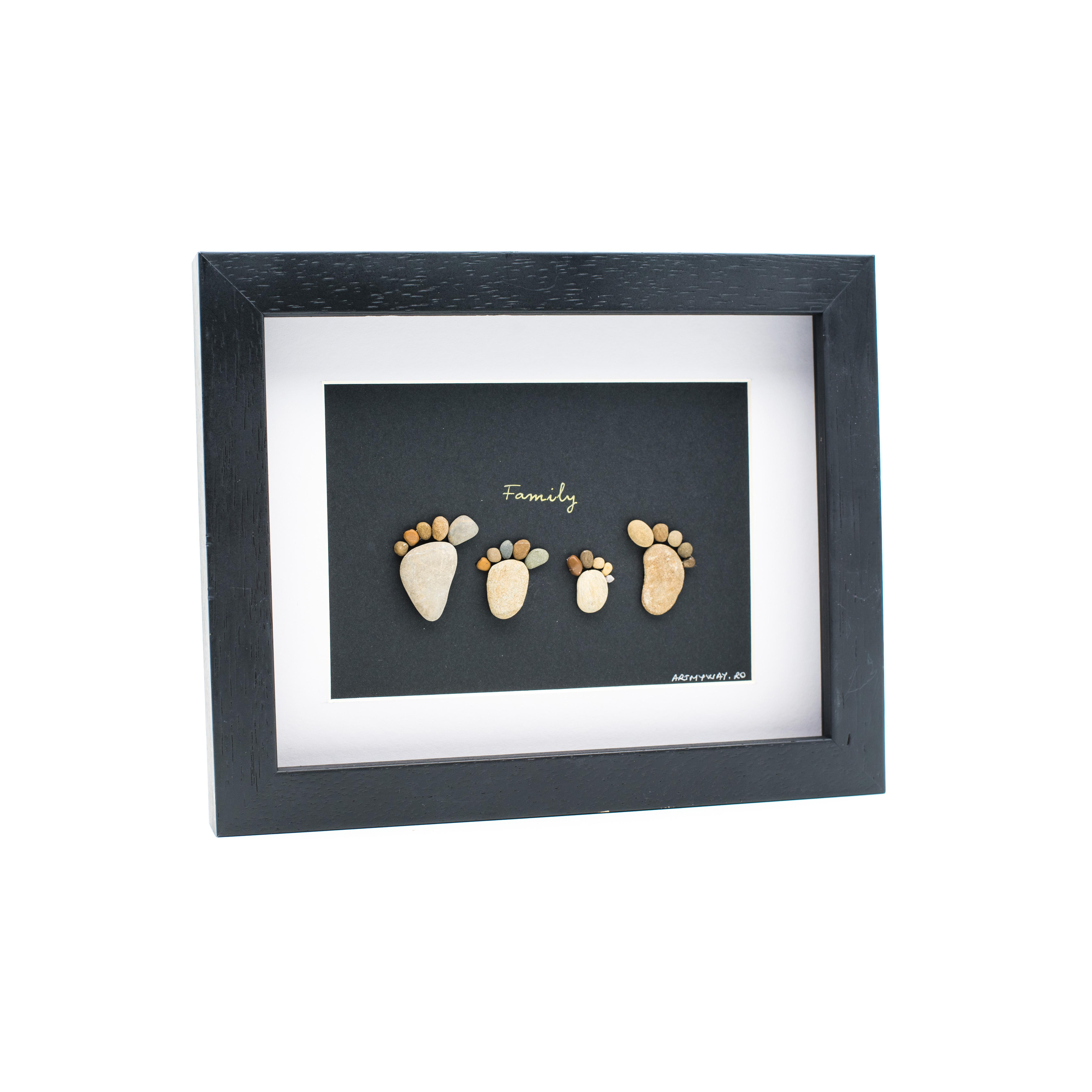 Tablou My Family 4- Colectia Pebble Art 1